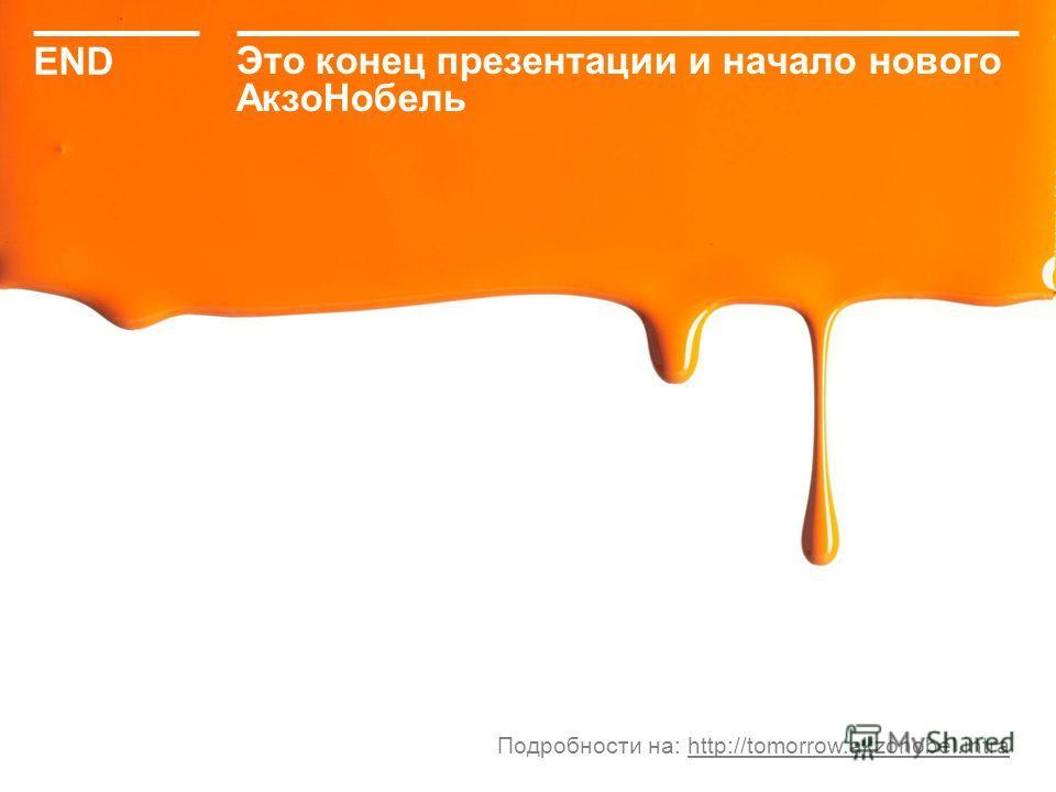 http://tomorrow.akzonobel.intra31 Это конец презентации и начало нового АкзоНобель END Подробности на: http://tomorrow.akzonobel.intra