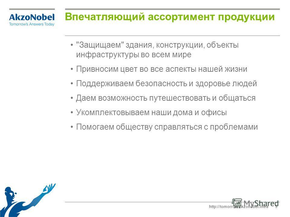 http://tomorrow.akzonobel.intra9 Впечатляющий ассортимент продукции