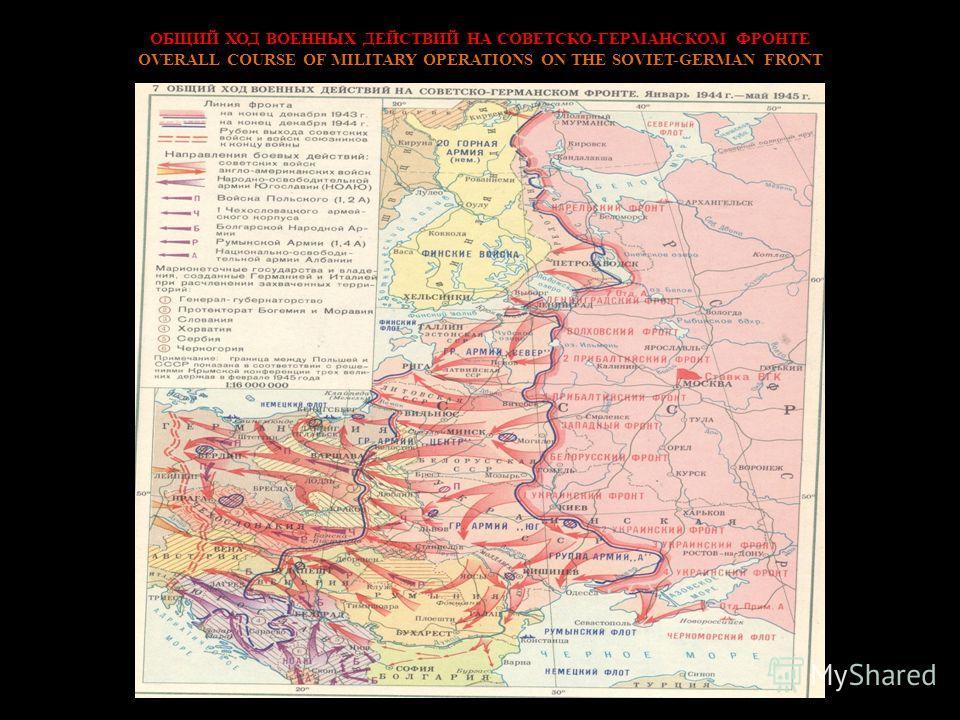 ОБЩИЙ ХОД ВОЕННЫХ ДЕЙСТВИЙ НА СОВЕТСКО-ГЕРМАНСКОМ ФРОНТЕ OVERALL COURSE OF MILITARY OPERATIONS ON THE SOVIET-GERMAN FRONT