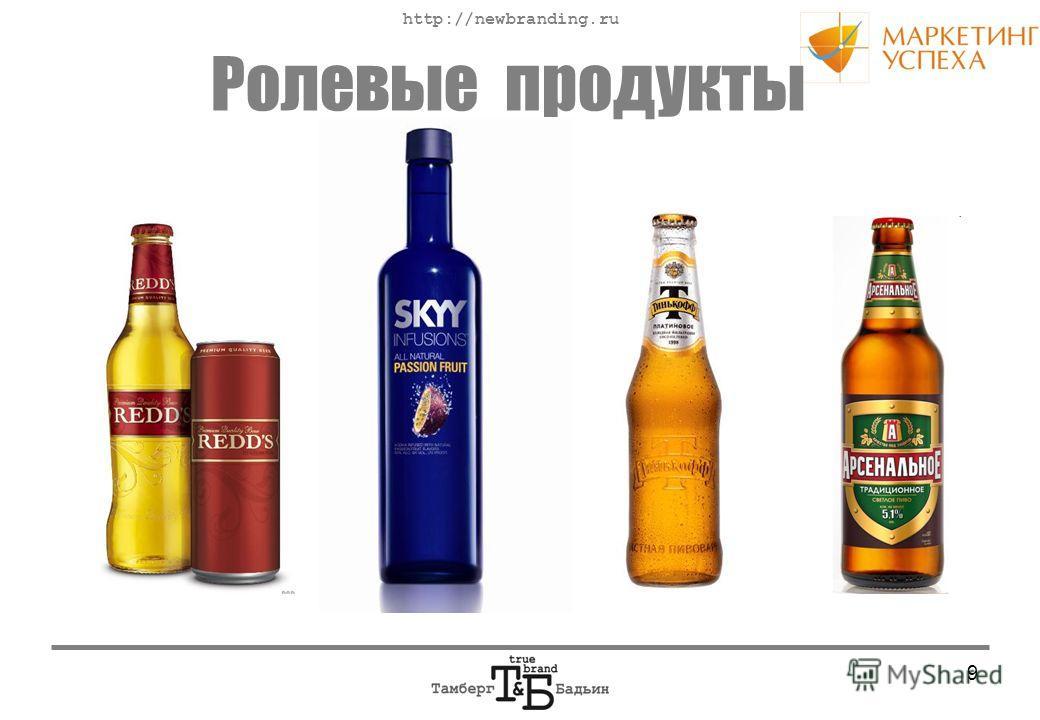 http://newbranding.ru 9 Ролевые продукты
