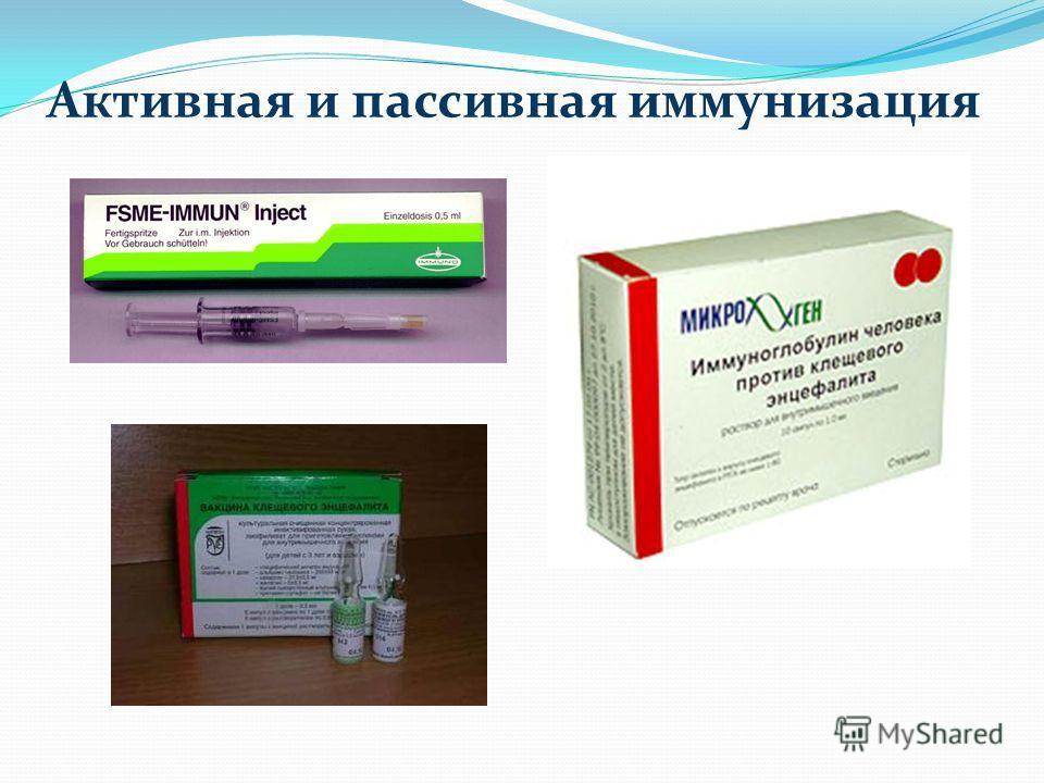 Активная и пассивная иммунизация