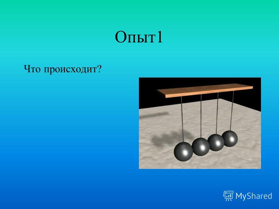 Проблема «Связанные маятники» Почему при возбуждении колебаний одного маятника начинает раскачиваться и второй маятник? Почему колебания не остаются на месте?