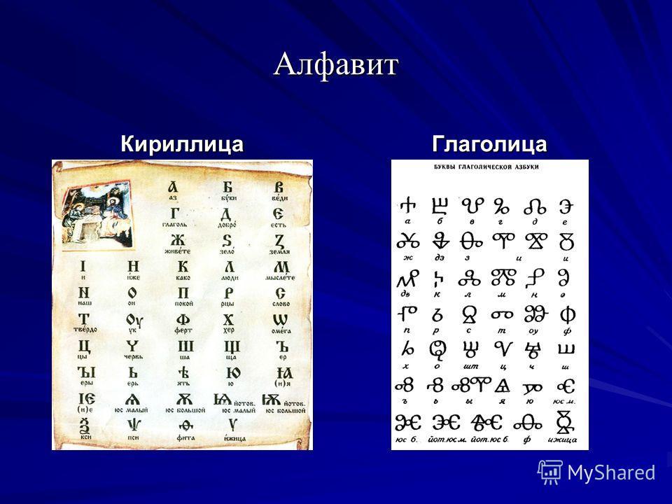 Алфавит КириллицаГлаголица
