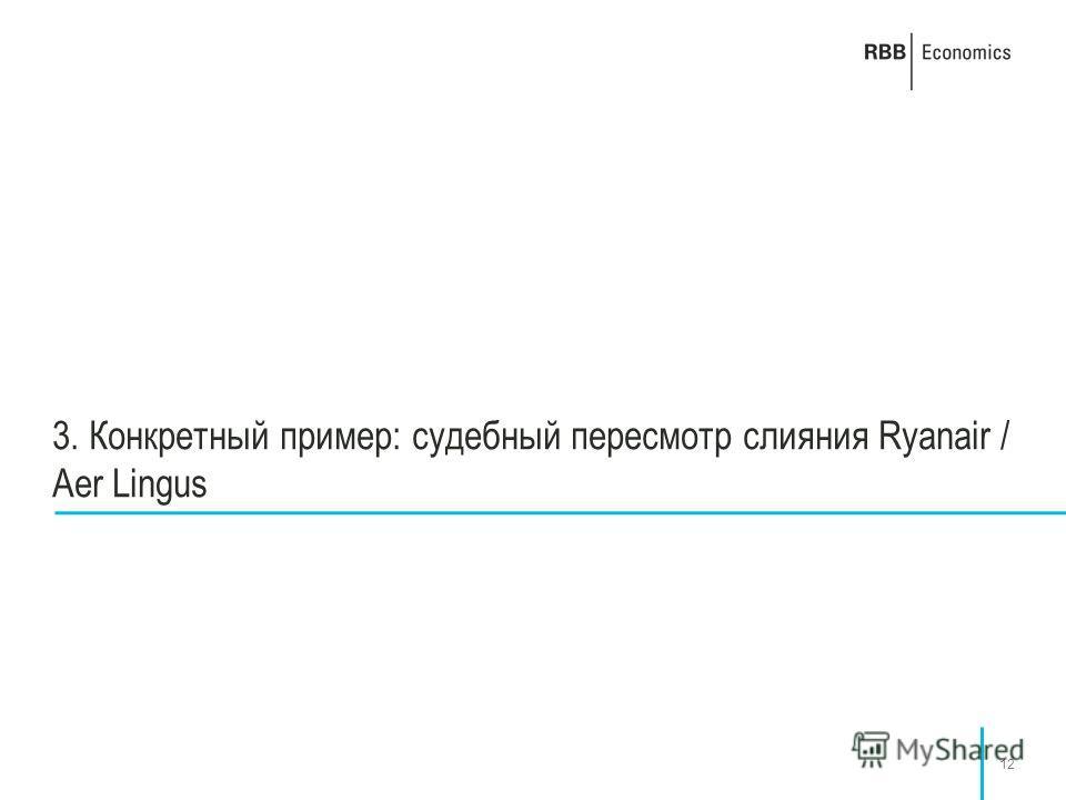 12 3. Конкретный пример: судебный пересмотр слияния Ryanair / Aer Lingus