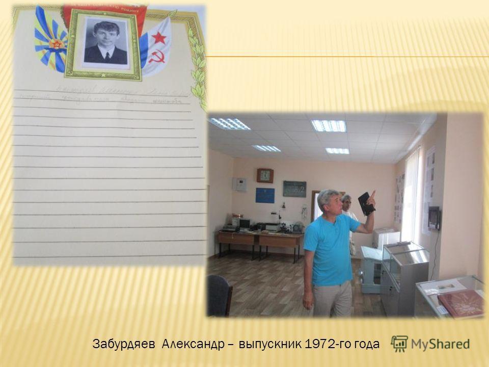 Забурдяев Александр – выпускник 1972-го года