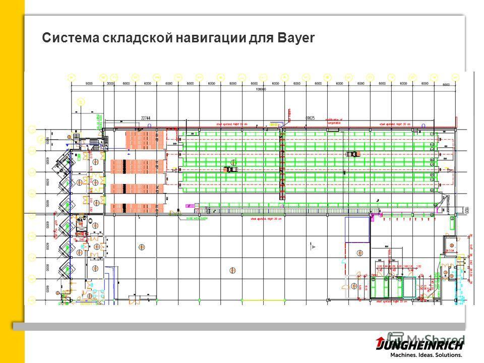 Система складской навигации для Bayer