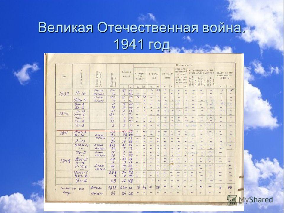 Великая Отечественная война. 1941 год Великая Отечественная война. 1941 год