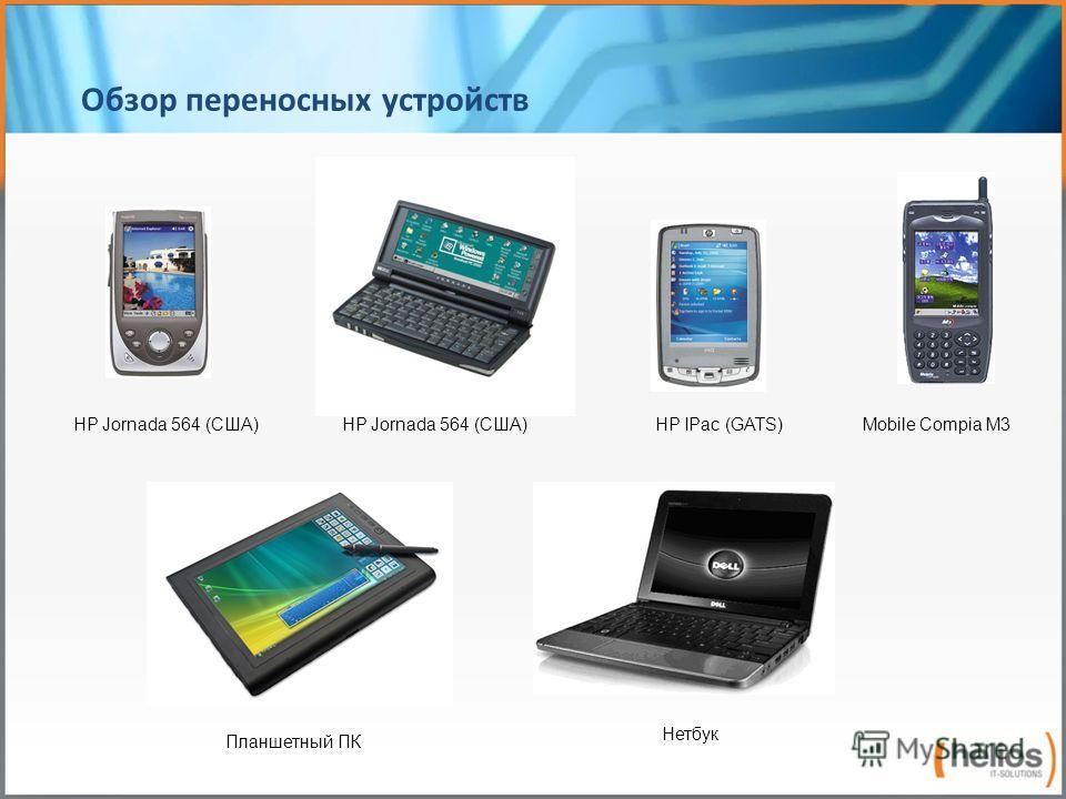 Обзор переносных устройств HP Jornada 564 (США) HP IPac (GATS) Планшетный ПК Нетбук Mobile Compia M3