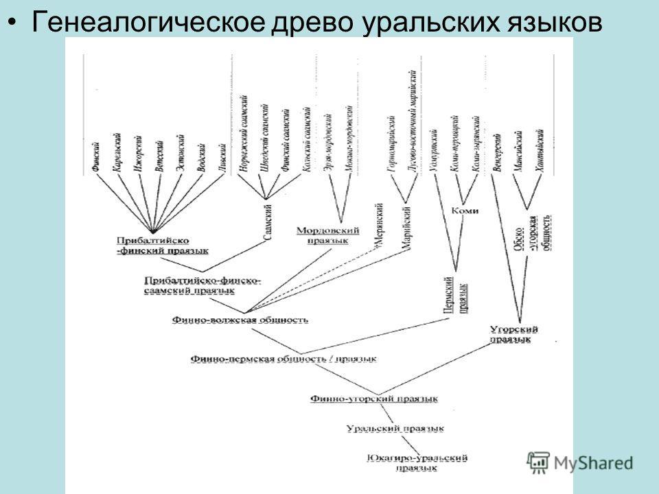 Генеалогическое древо уральских языков