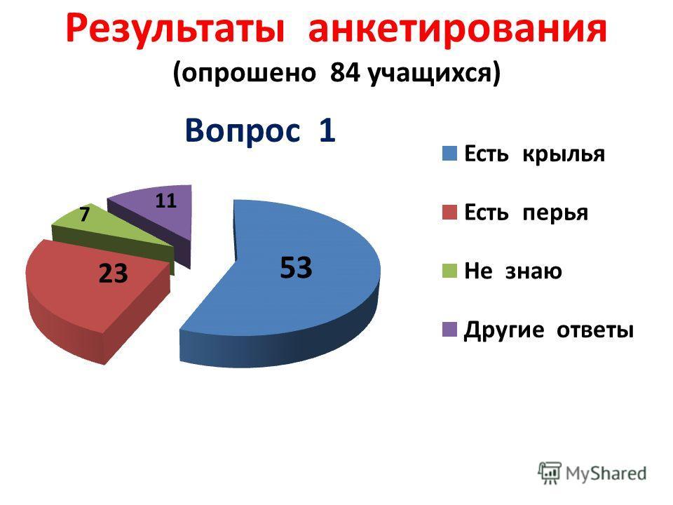 Результаты анкетирования (опрошено 84 учащихся)