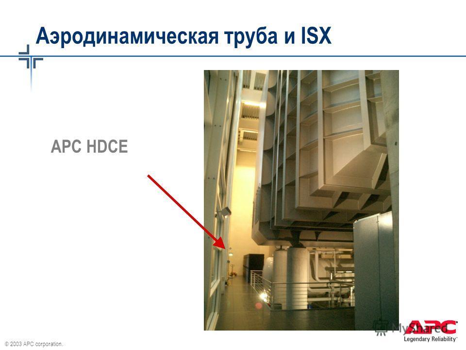 © 2003 APC corporation. Аэродинамическая труба и ISX APC HDCE