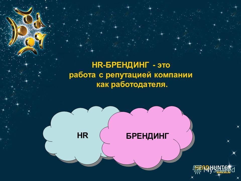 HR-БРЕНДИНГ - это работа с репутацией компании как работодателя. HR БРЕНДИНГ