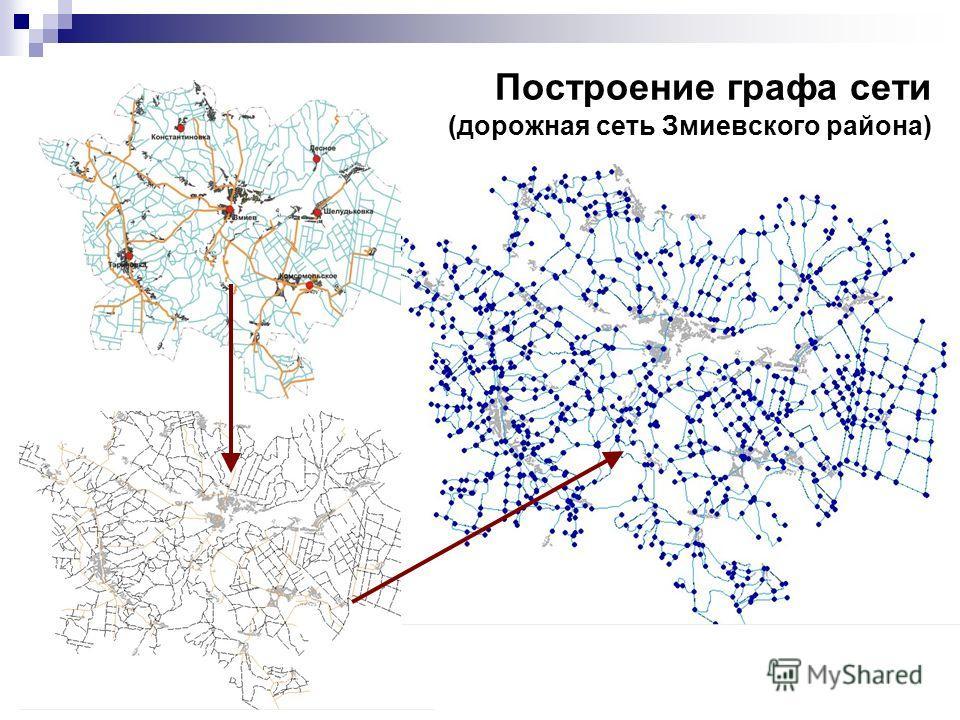 Построение графа сети (дорожная сеть Змиевского района)