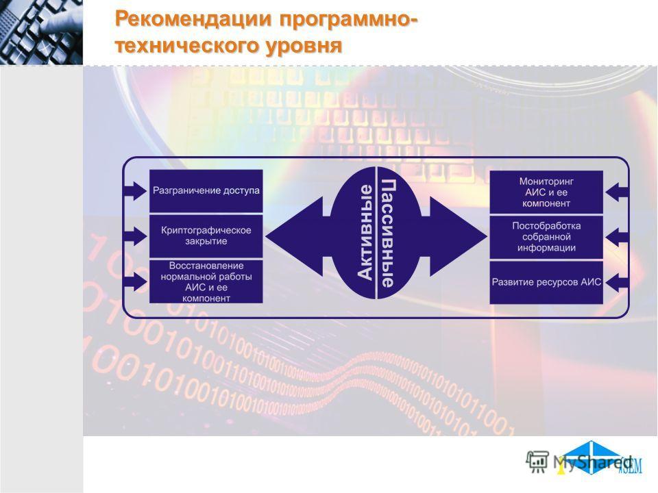 Рекомендации программно- технического уровня