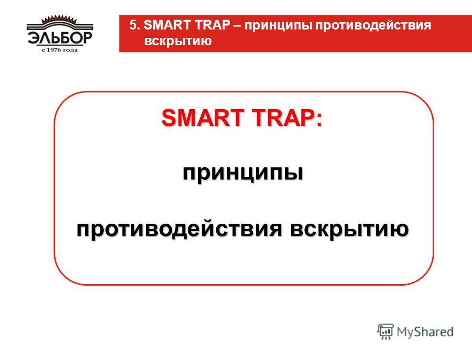 SMART TRAP: принципы противодействия вскрытию 5. SMART TRAP – принципы противодействия вскрытию
