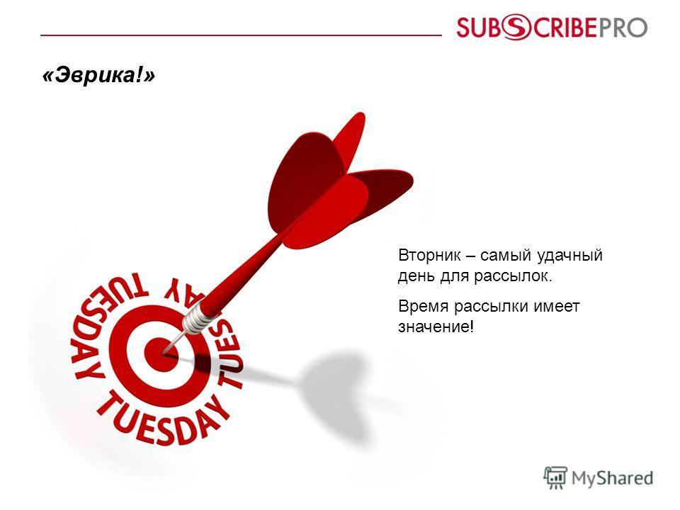 «Эврика!» Вторник – самый удачный день для рассылок. Время рассылки имеет значение!