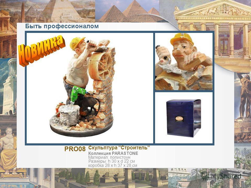 Быть профессионалом PRO08 Скульптура Строитель Коллекция PARASTONE Материал: полистоун Размеры: h 30 х d 22 см коробка 28 х h 37 х 28 см