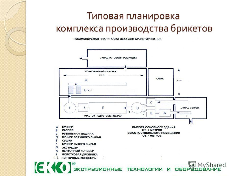 Типовая планировка комплекса производства брикетов