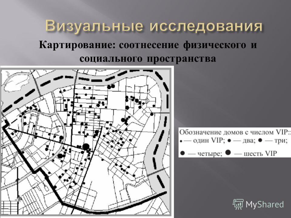 Картирование : соотнесение физического и социального пространства