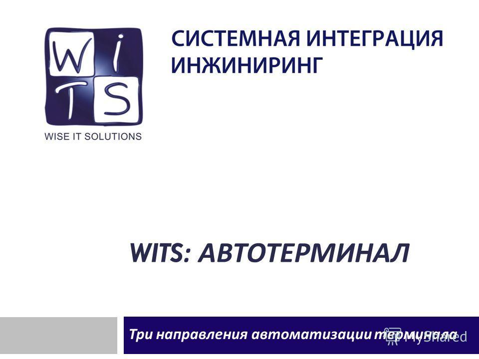 WITS: АВТОТЕРМИНАЛ Три направления автоматизации терминала