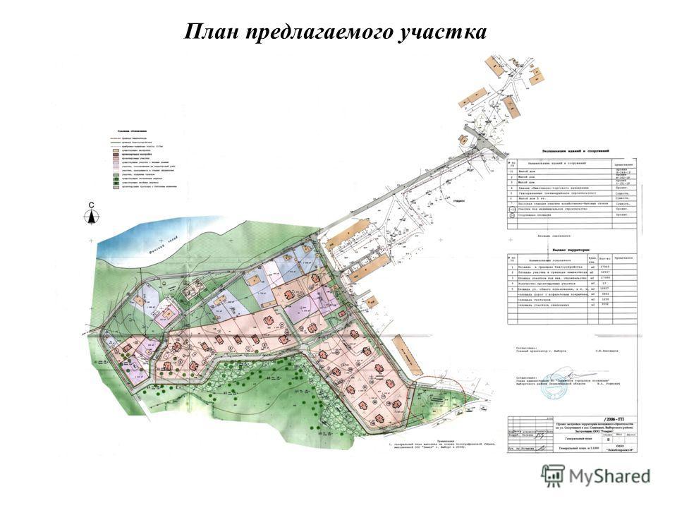 План предлагаемого участка