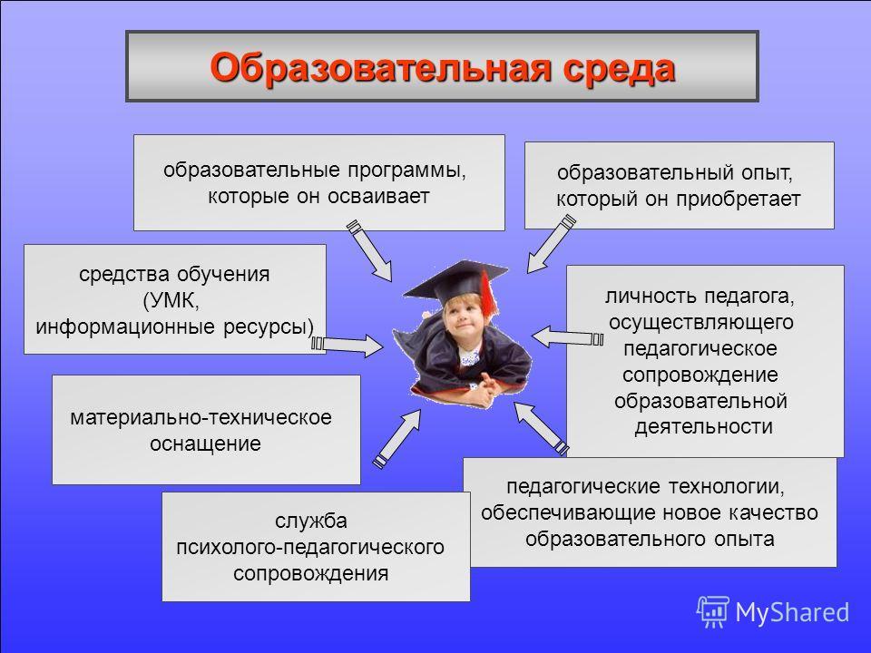 образовательные программы, которые он осваивает средства обучения (УМК, информационные ресурсы) педагогические технологии, обеспечивающие новое качество образовательного опыта личность педагога, осуществляющего педагогическое сопровождение образовате