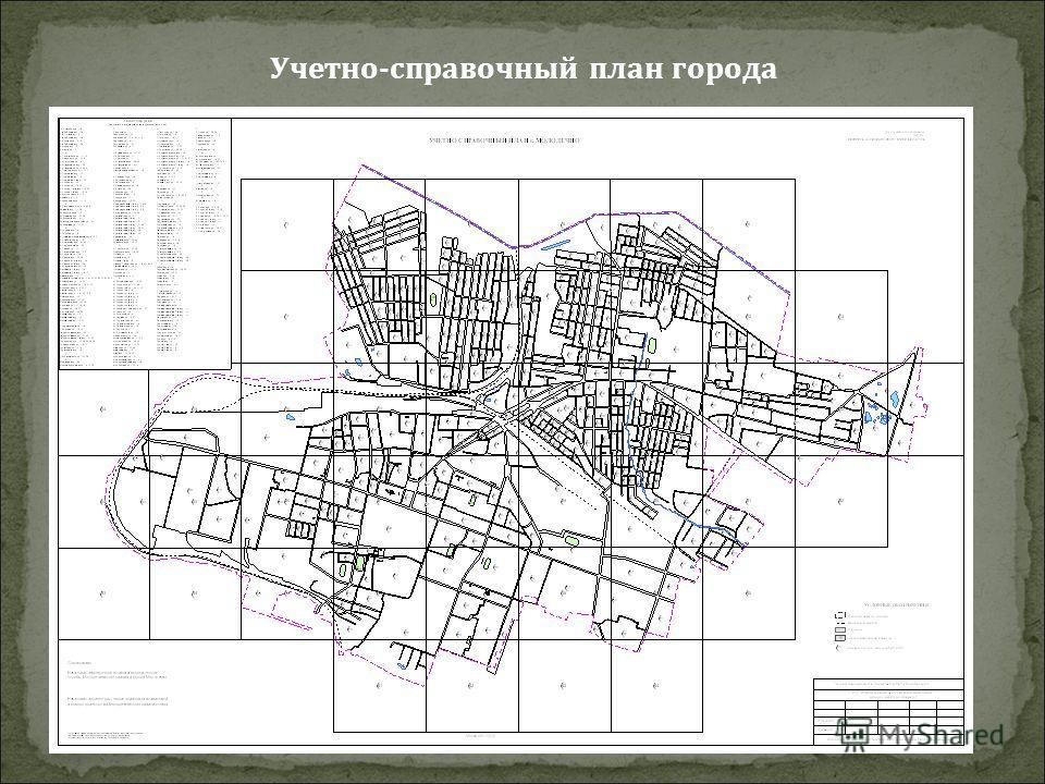 Учетно-справочный план города
