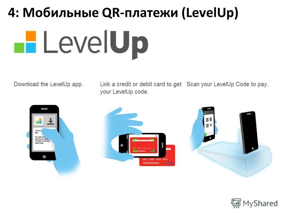 4: Мобильные QR-платежи (LevelUp)