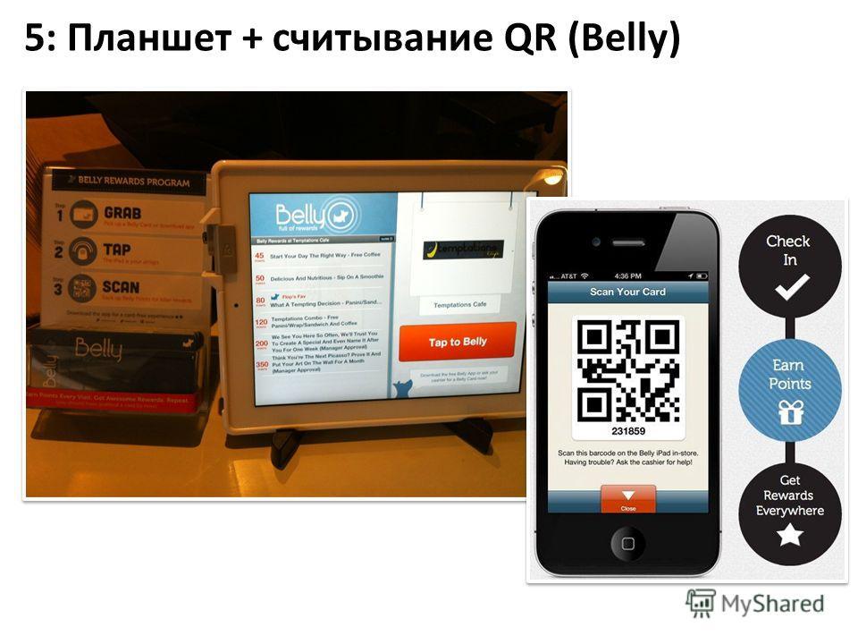 5: Планшет + считывание QR (Belly)