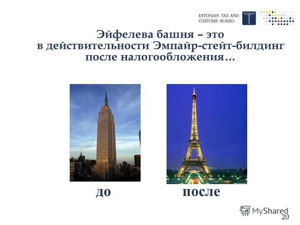 20 Эйфелева башня – это в действительности Эмпайр-стейт-билдинг после налогообложения… допосле