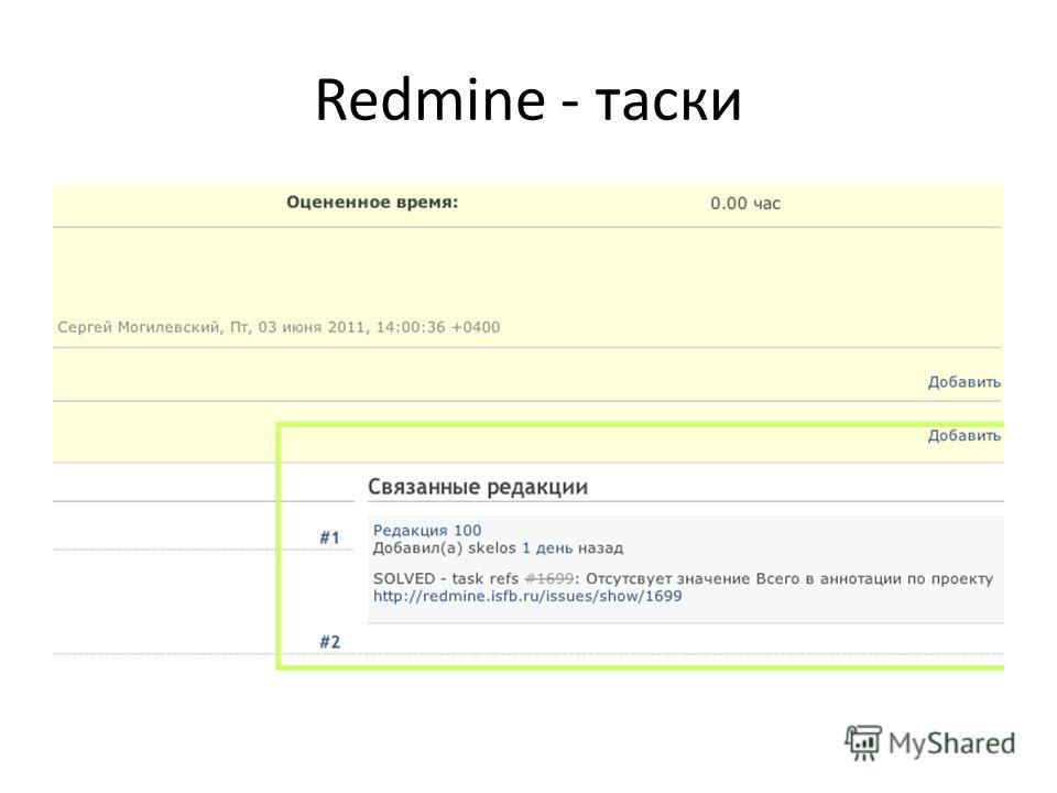 Redmine - таски