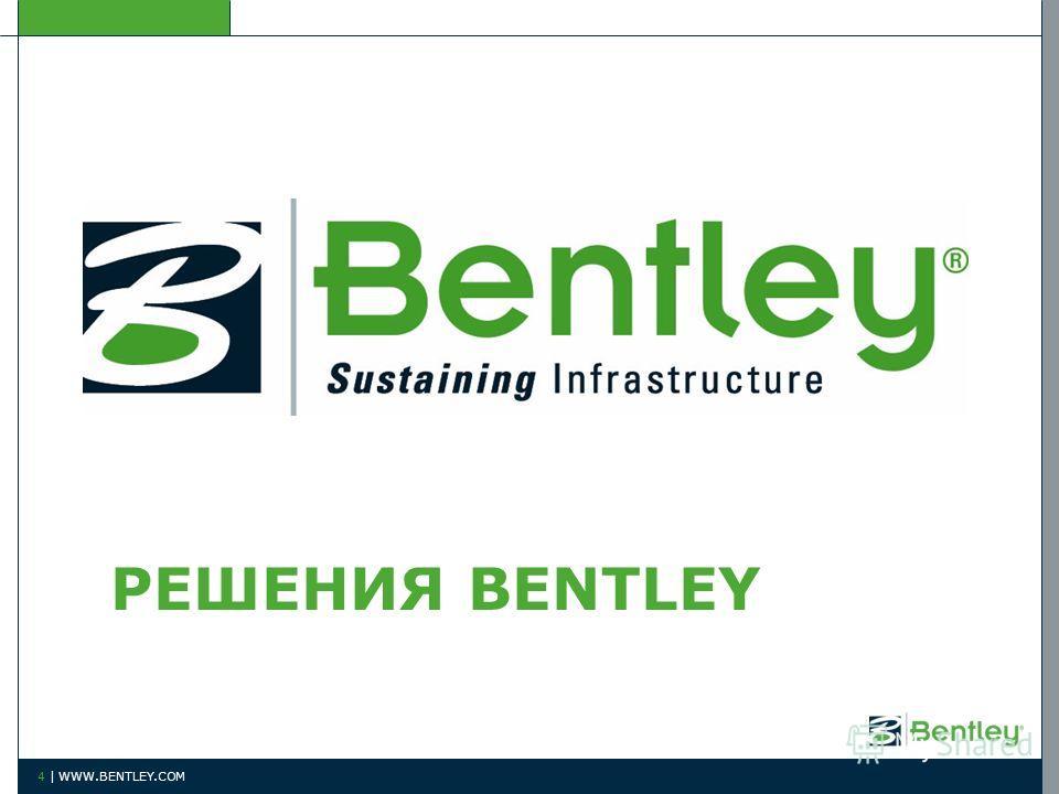 РЕШЕНИЯ BENTLEY 4 | WWW.BENTLEY.COM