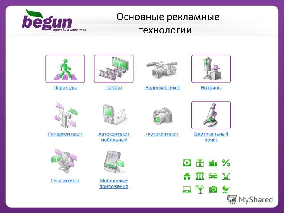 Основные рекламные технологии