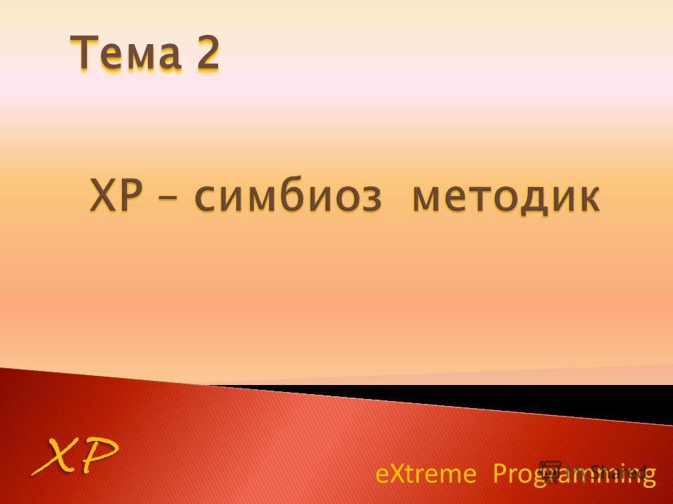 eXtreme Programming XP Тема 2