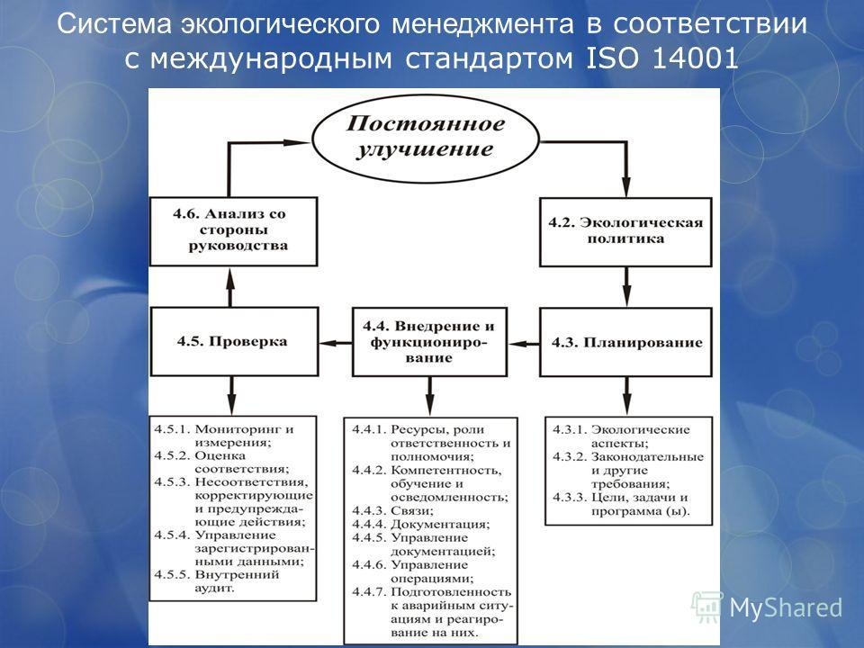 Система экологического менеджмента в соответствии с международным стандартом ISO 14001