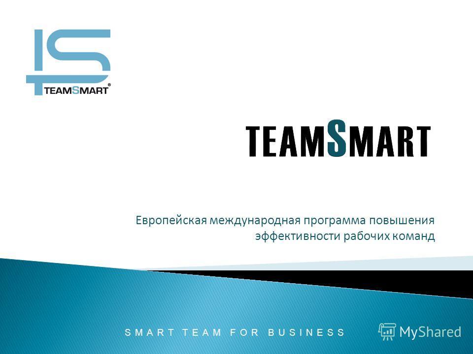 Европейская международная программа повышения эффективности рабочих команд SMART TEAM FOR BUSINESS