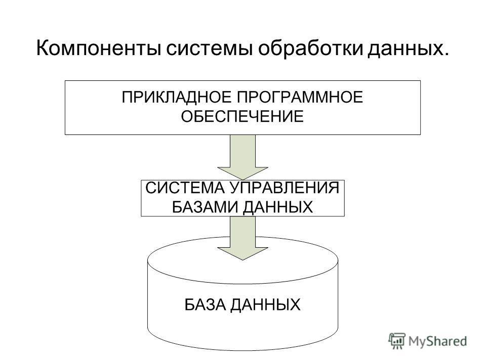 Компоненты системы обработки данных.