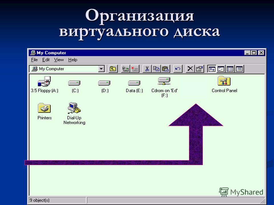 Организация виртуального диска