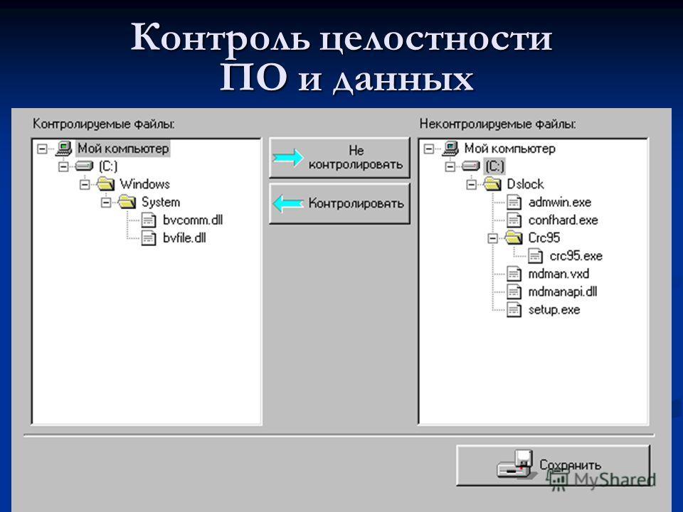 Контроль целостности ПО и данных