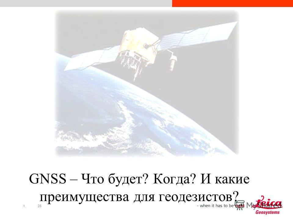 1.26 GNSS – Что будет? Когда? И какие преимущества для геодезистов?