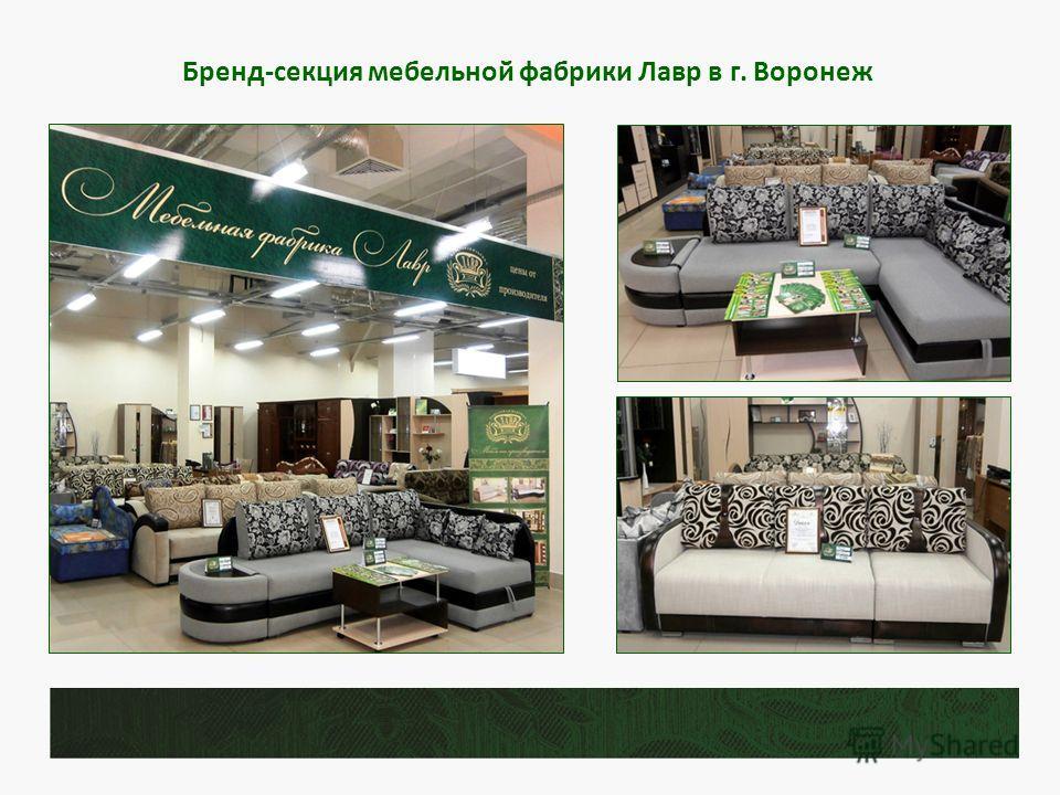 Бренд-секция мебельной фабрики Лавр в г. Воронеж