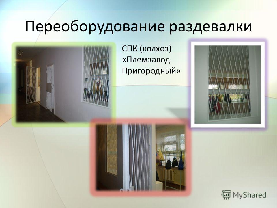 Переоборудование раздевалки СПК (колхоз) «Племзавод Пригородный»