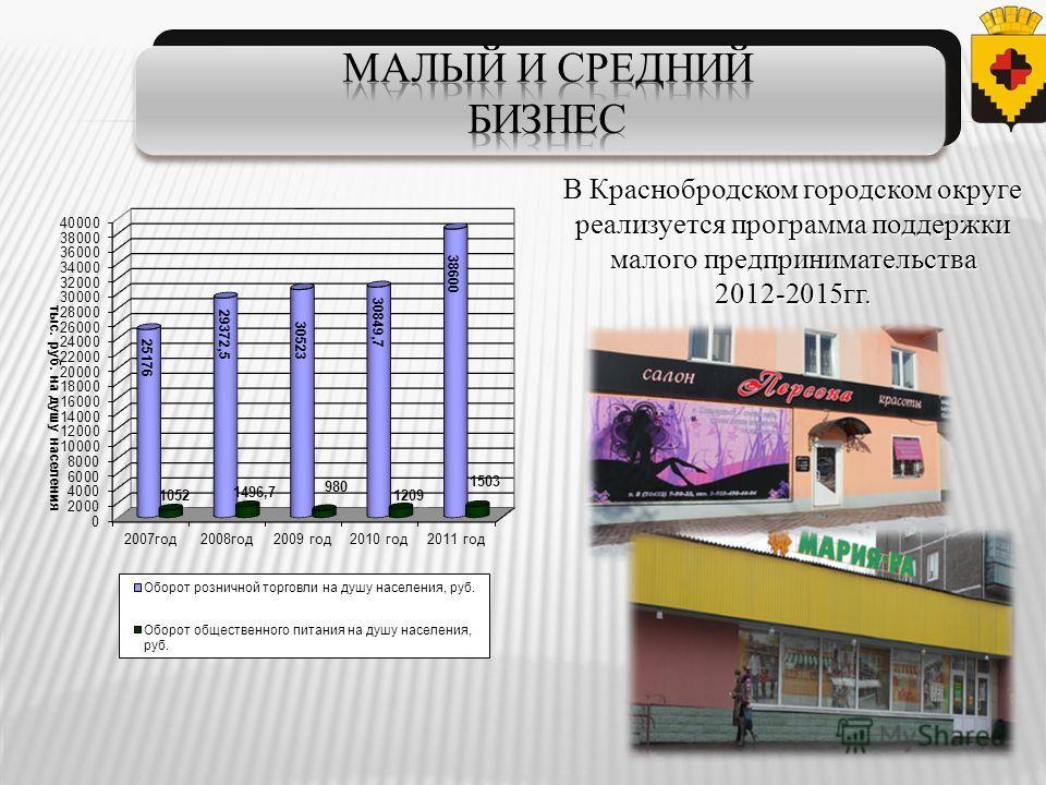 В Краснобродском городском округе реализуется программа поддержки малого предпринимательства 2012-2015гг.