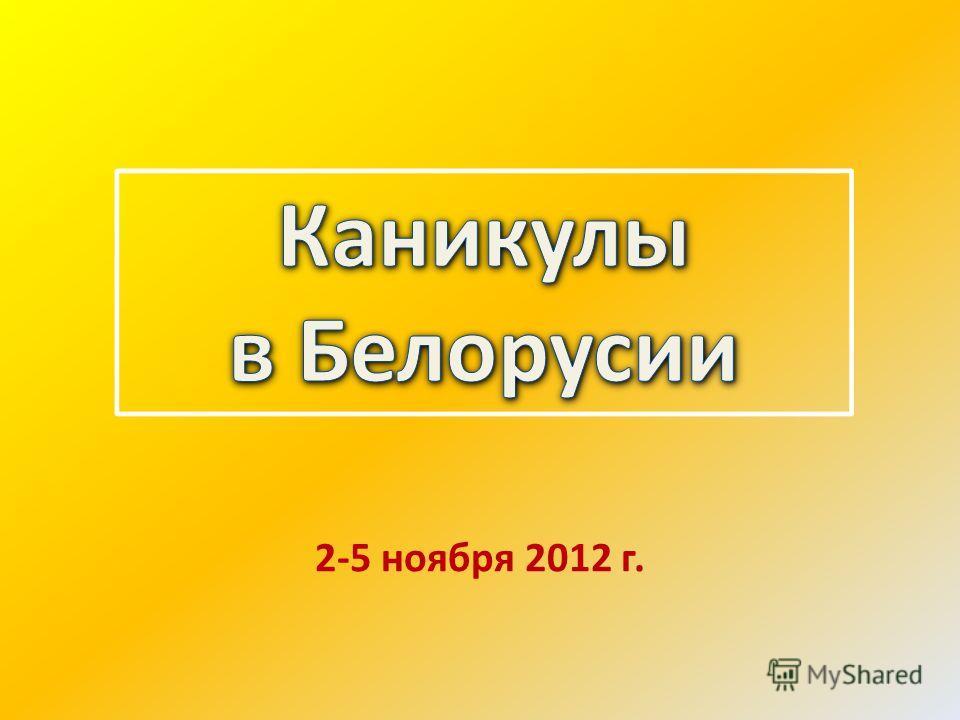 2-5 ноября 2012 г.