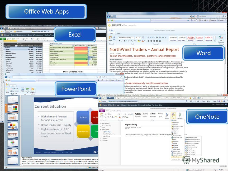 23 Excel Word PowerPoint OneNote Office Web Apps