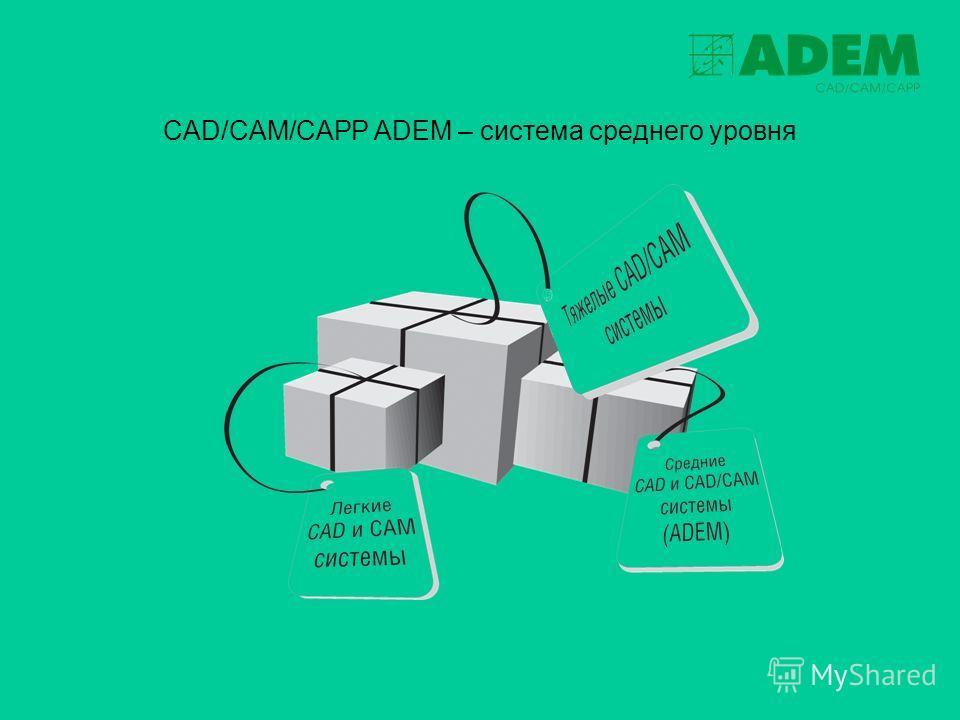 CAD/CAM/CAPP ADEM – система среднего уровня