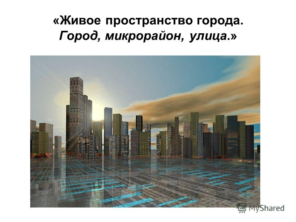 «Живое пространство города. Город, микрорайон, улица.»
