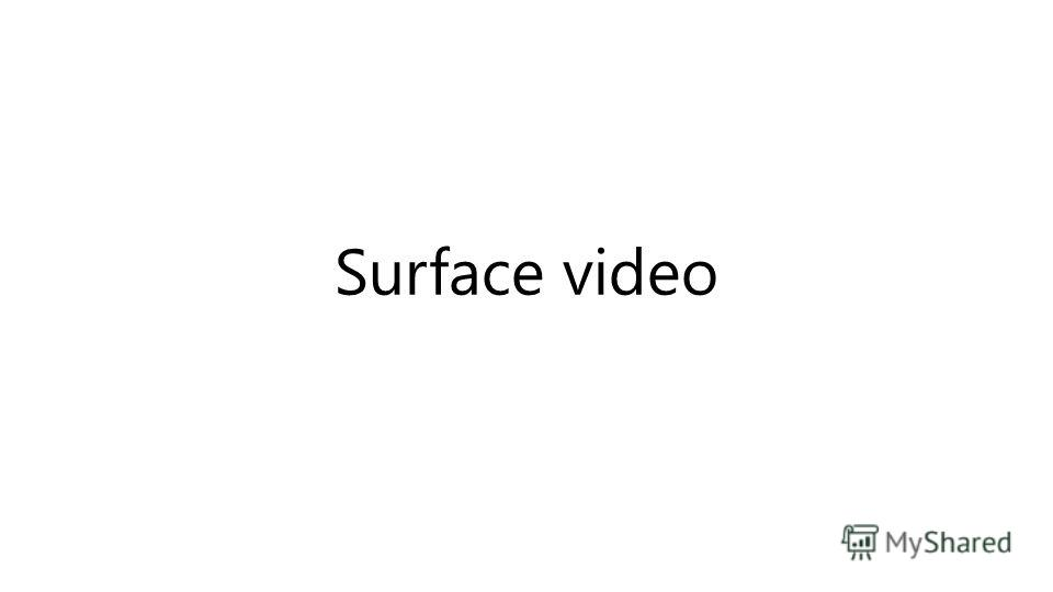 Surface video