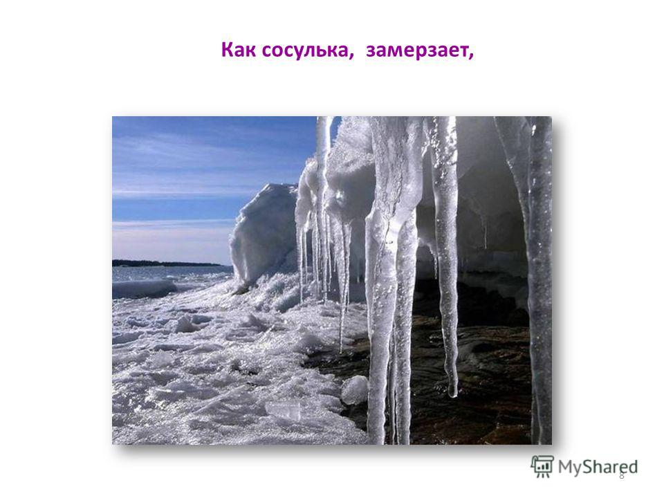 Как сосулька, замерзает, 8