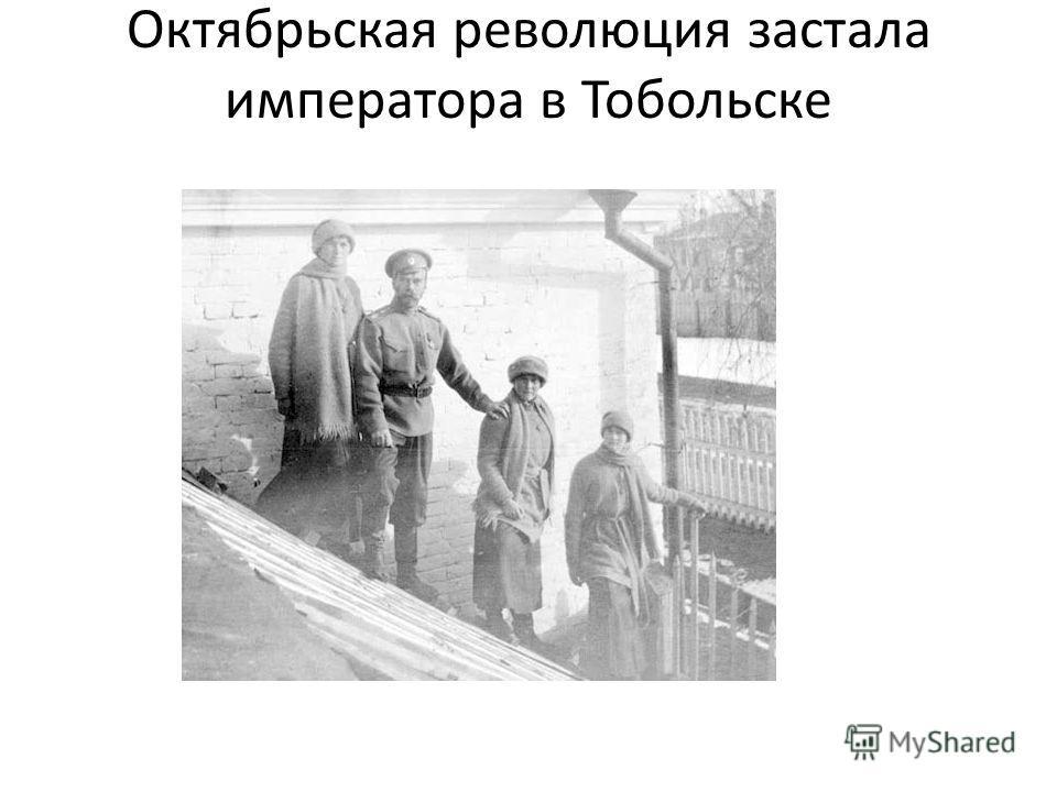 Октябрьская революция застала императора в Тобольске